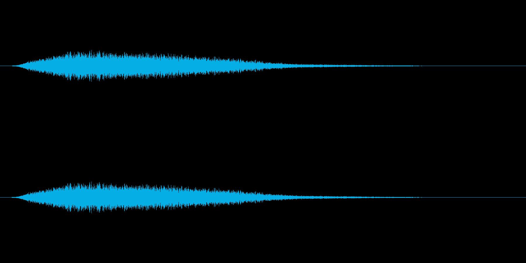 【風 合成02-2】の再生済みの波形