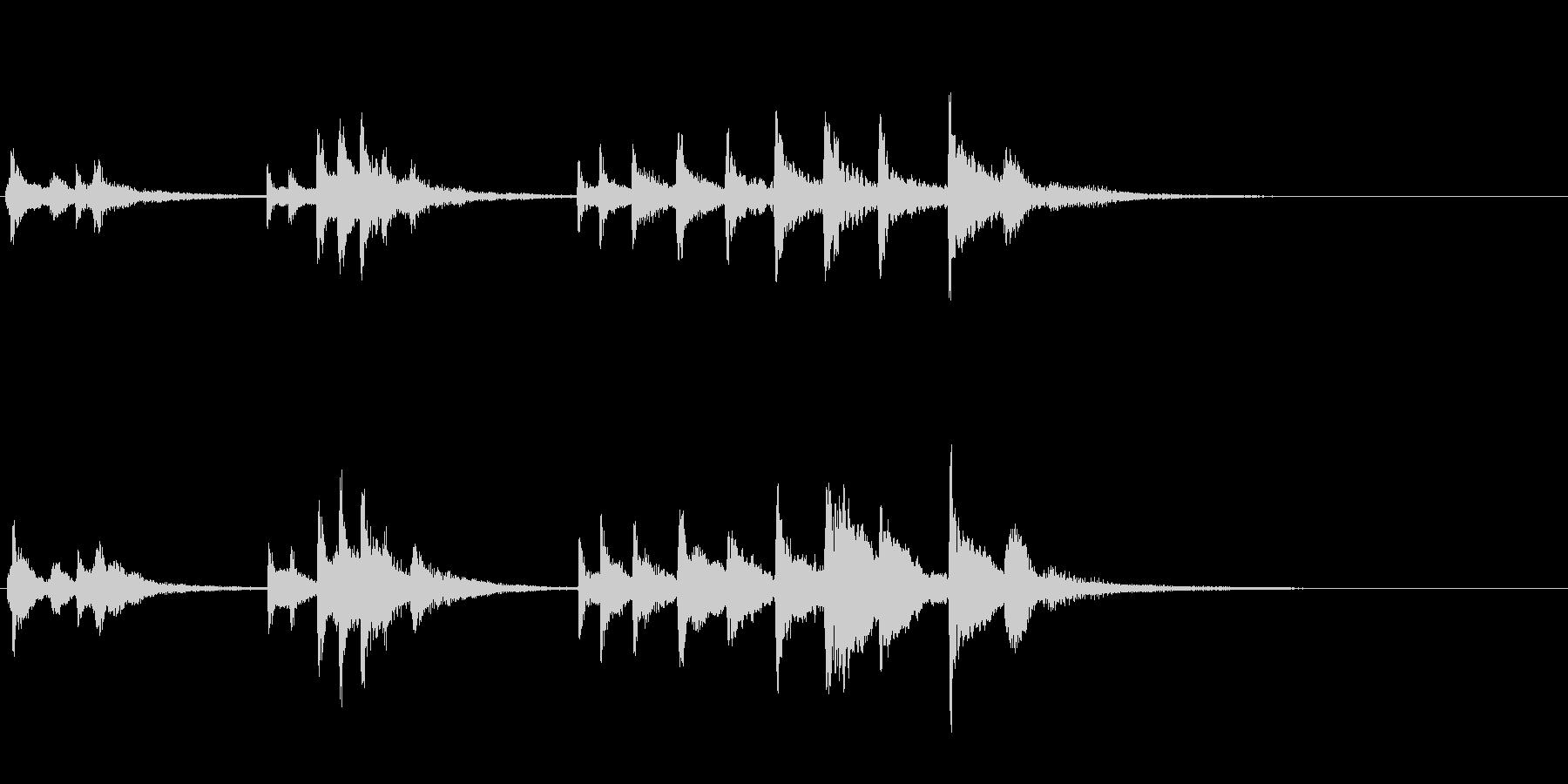 素朴で優しい感じのハープ音です。の未再生の波形