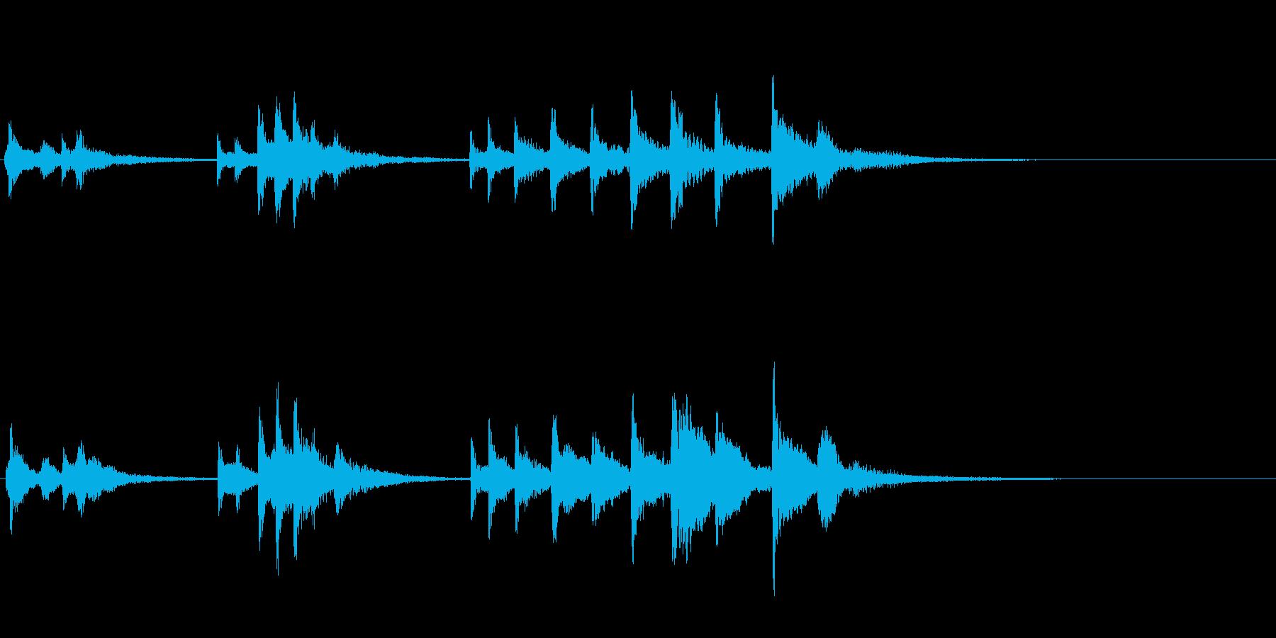 素朴で優しい感じのハープ音です。の再生済みの波形