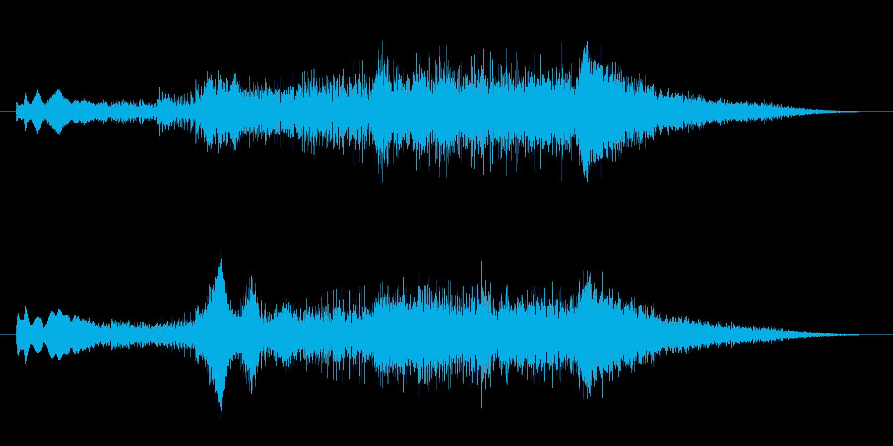 朝の爽やかさを思わせるサウンドロゴの再生済みの波形