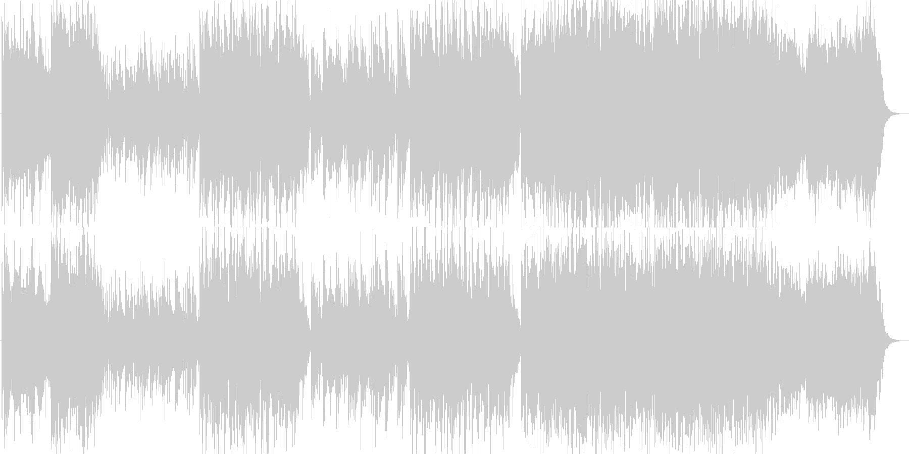 洋楽のような雰囲気のミディアムバラードの未再生の波形