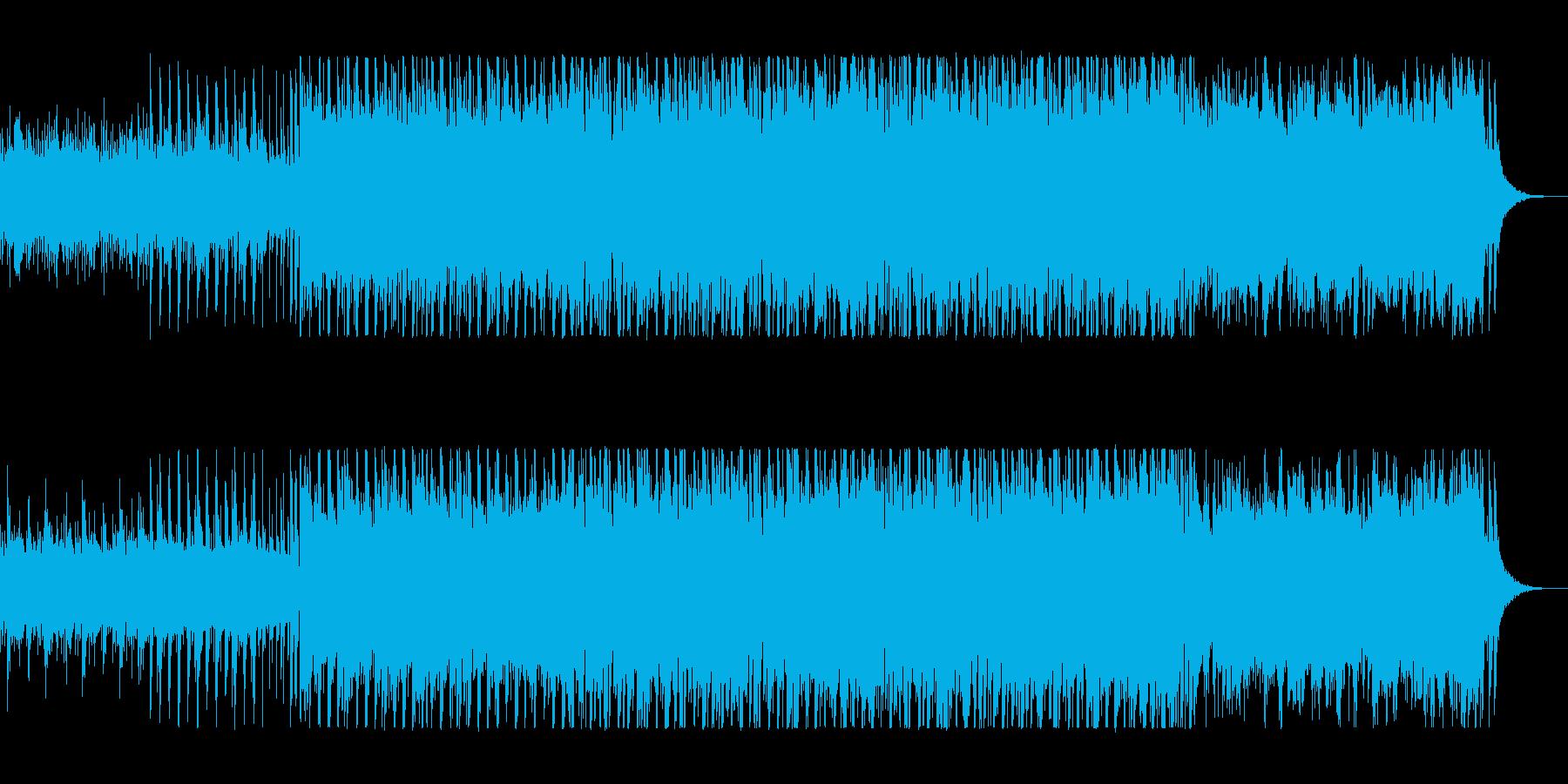 明るくリズムの良い軽快でポップな曲の再生済みの波形