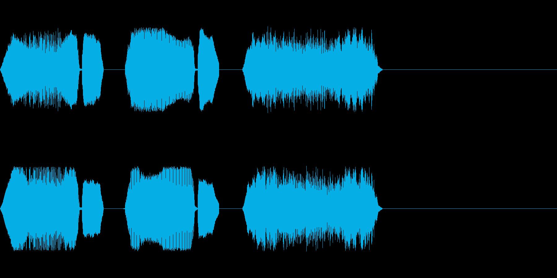 赤ちゃんの泣き声の再生済みの波形
