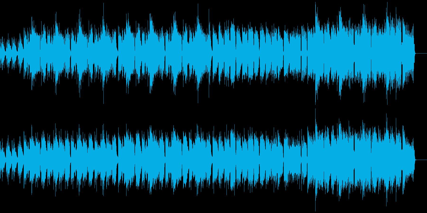 やさしく温かい雰囲気のリコーダーの再生済みの波形