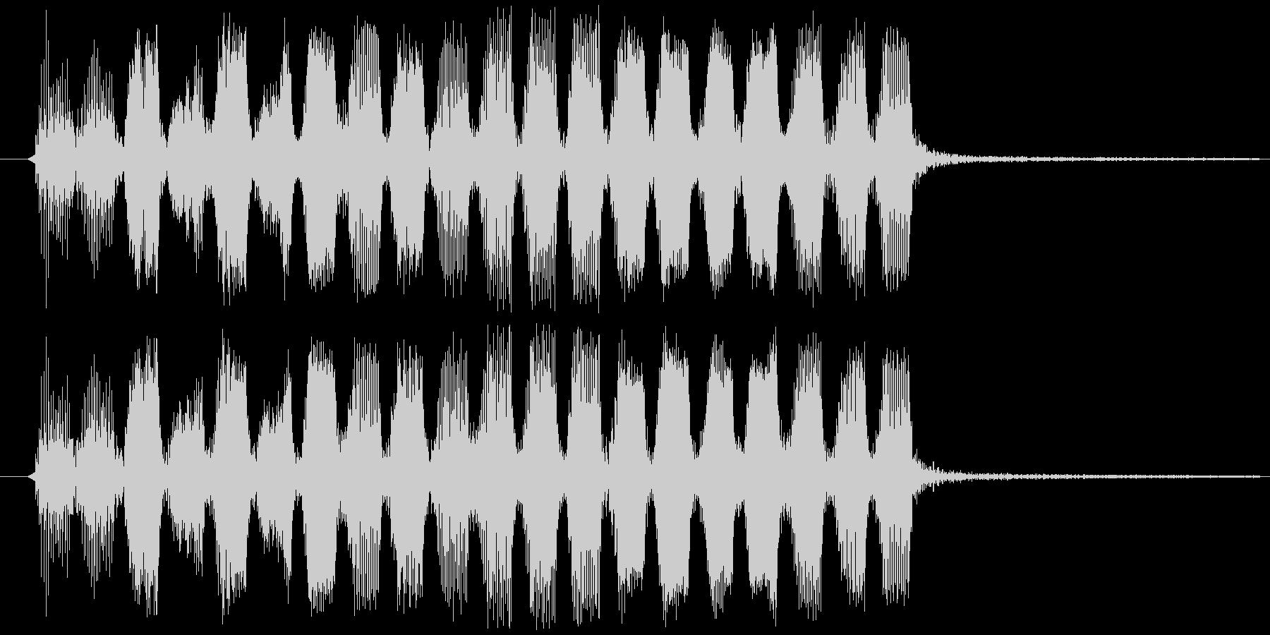 コミカルで変な効果音・出現音の未再生の波形