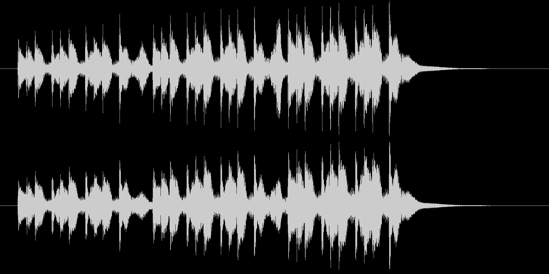 掛け声入りの三本締め(一本締め3回分)の未再生の波形