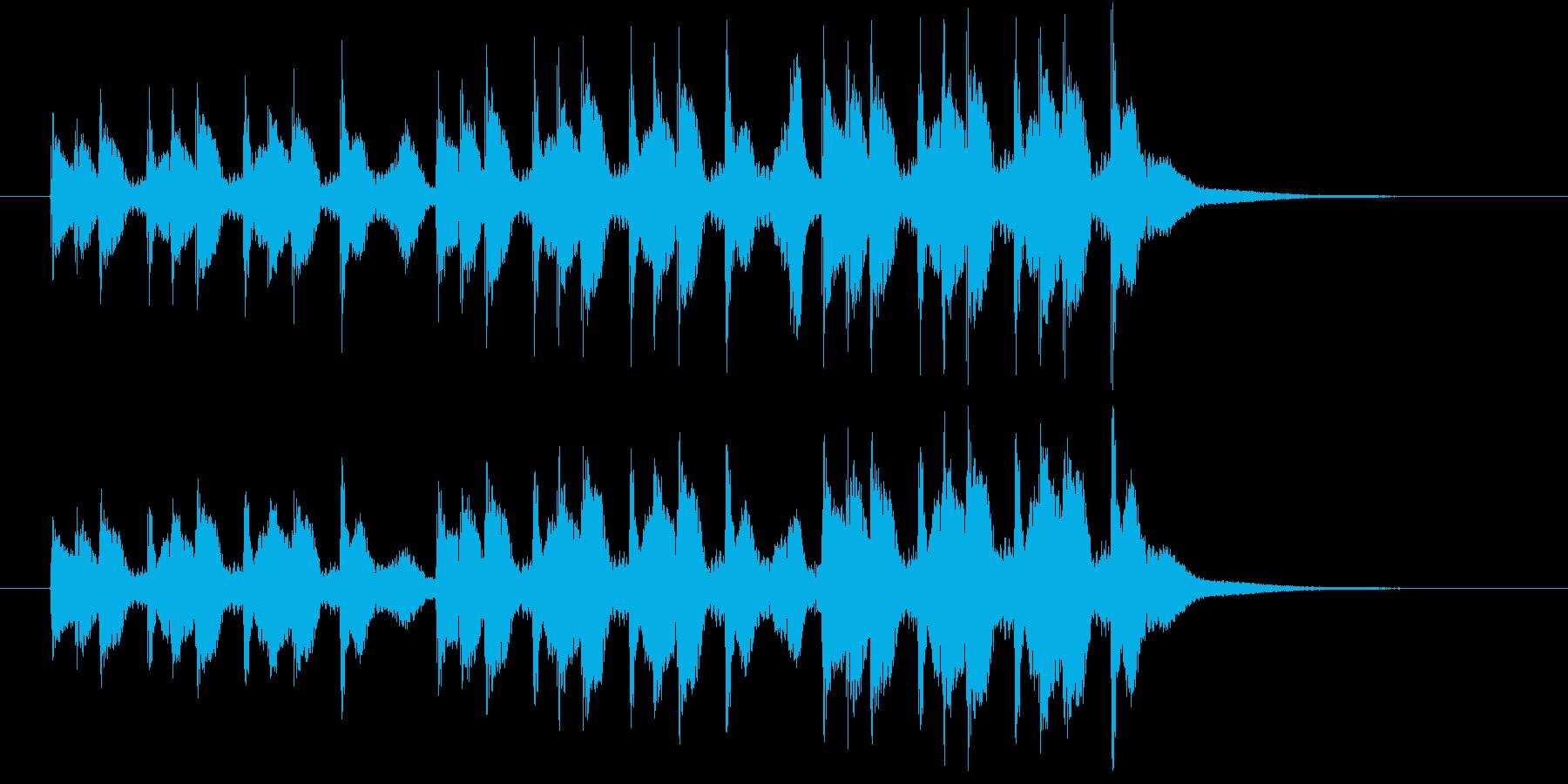 掛け声入りの三本締め(一本締め3回分)の再生済みの波形