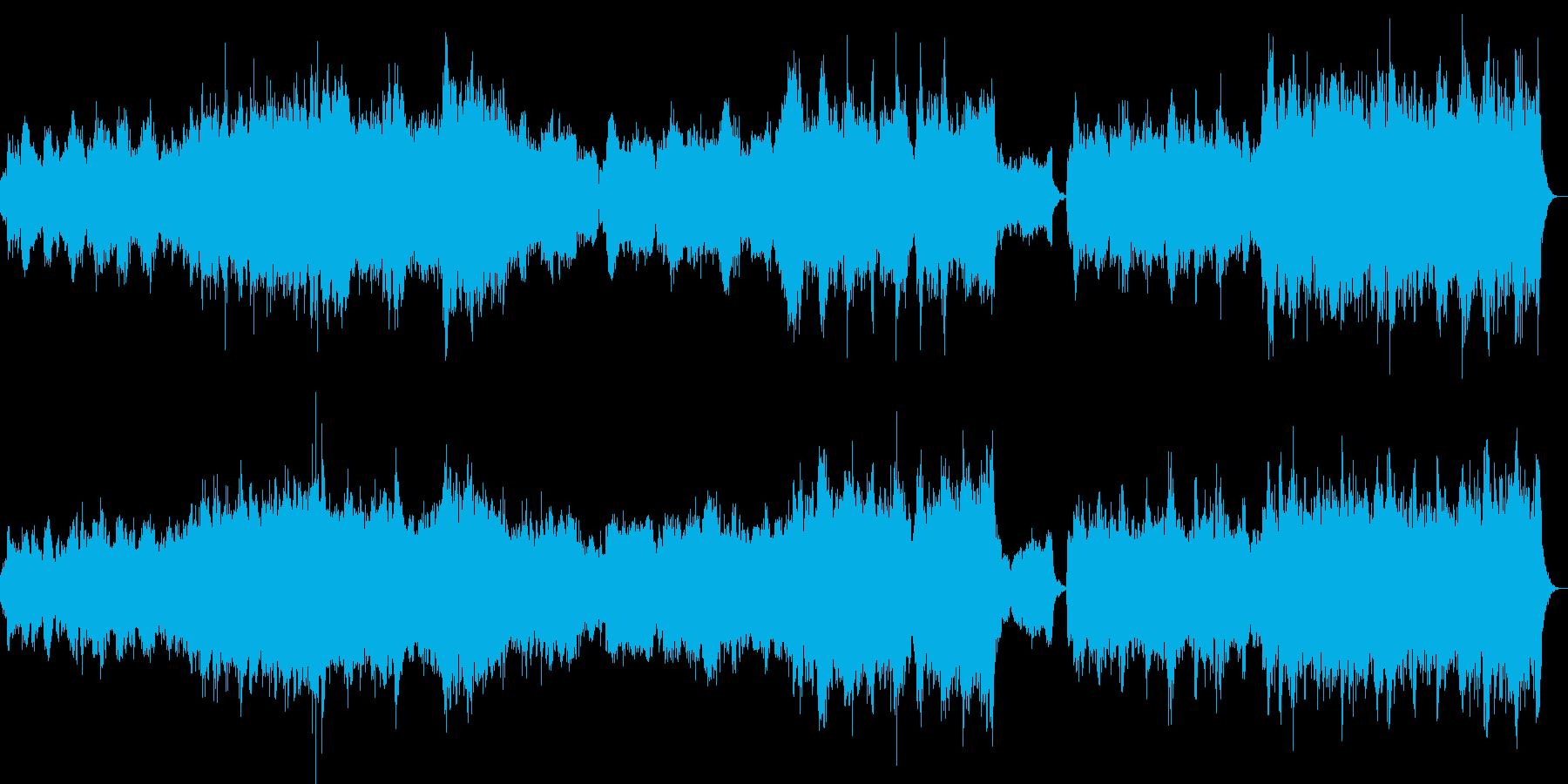 バイオリンとチェロがダイナミックに悲しいの再生済みの波形