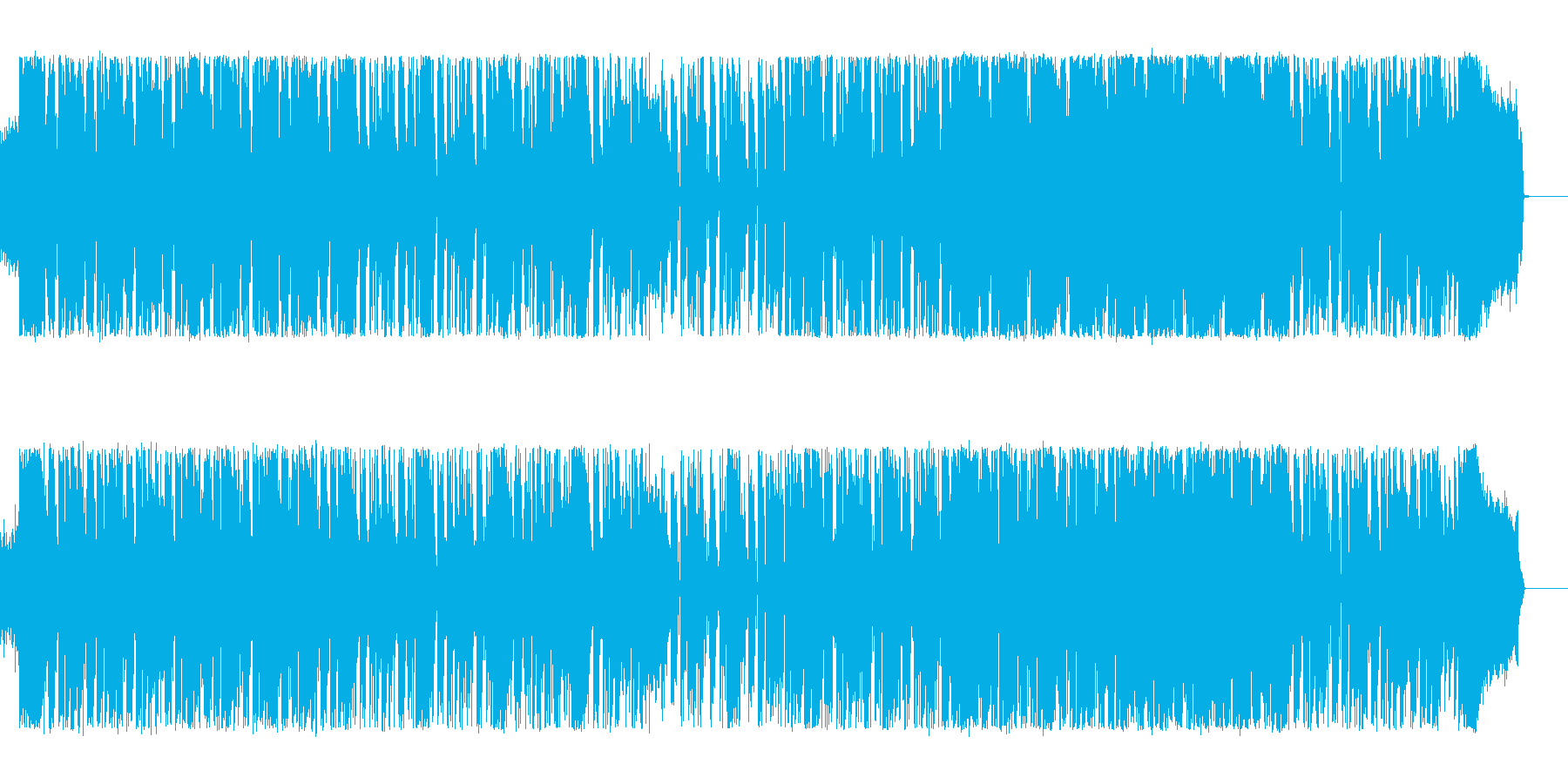 目が覚めるほどのハードロックの再生済みの波形
