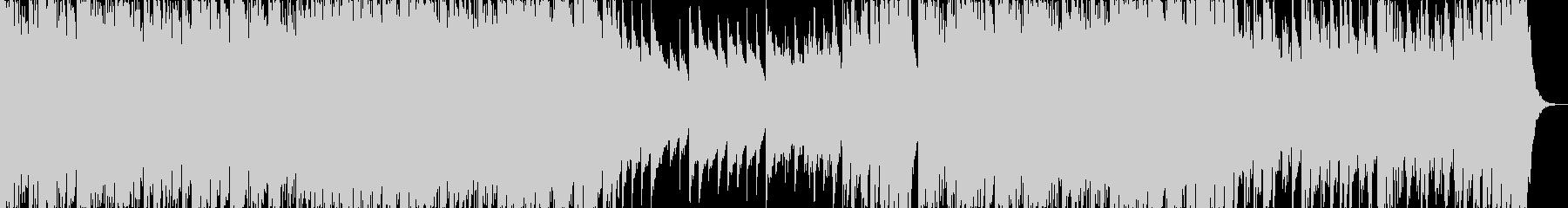パワフルなピアノとビートのサウンドの未再生の波形