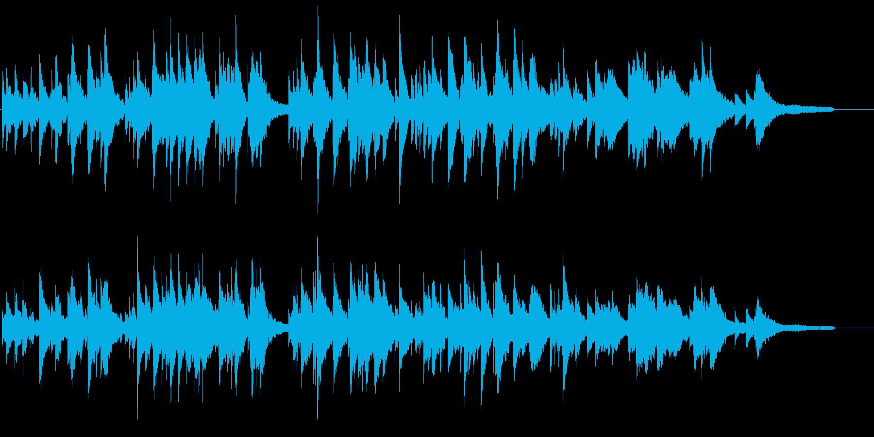 透明感のあるピアノとオルゴールの楽曲の再生済みの波形