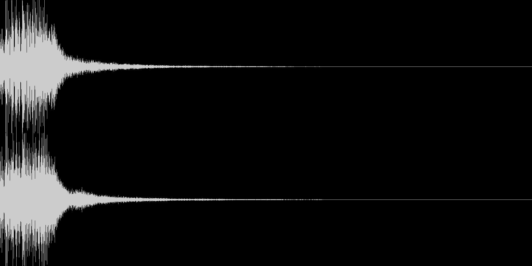 システム音 決定の未再生の波形