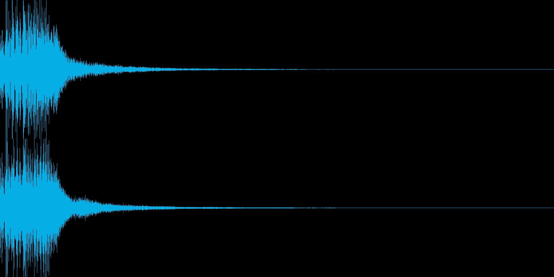 システム音 決定の再生済みの波形