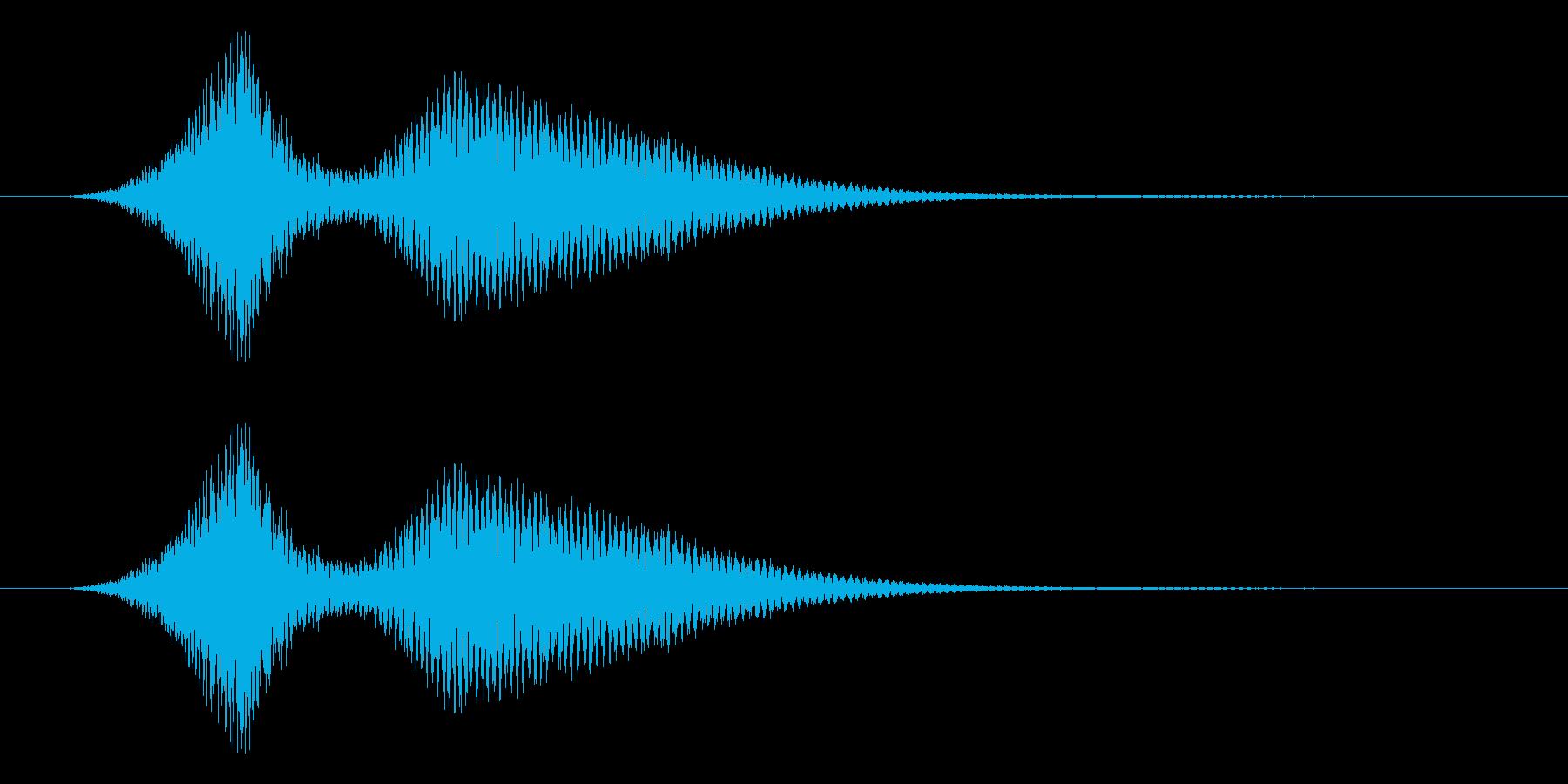 レトロゲームにありそうな空を切る音の再生済みの波形