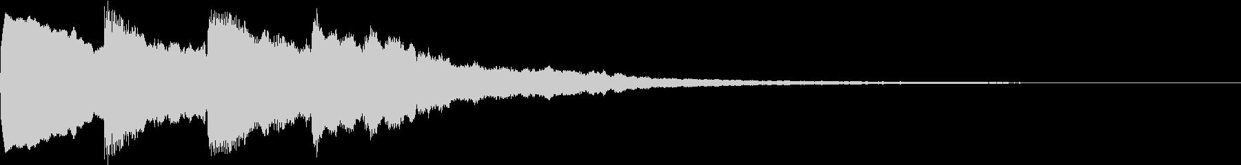 シンプル アナウンス 案内 放送 11の未再生の波形