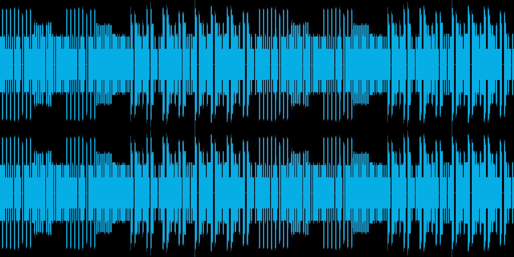 キャッチーなレトロゲーム風のBGMです。の再生済みの波形