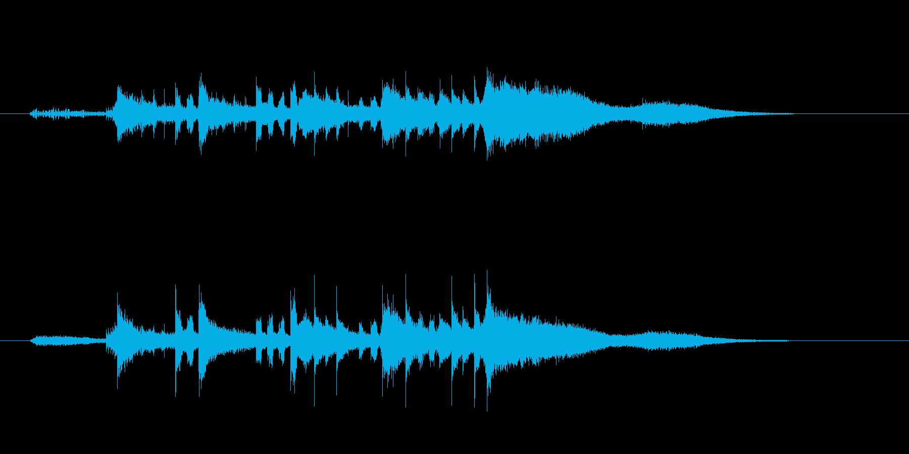 ジングル(森のさえずり風)の再生済みの波形