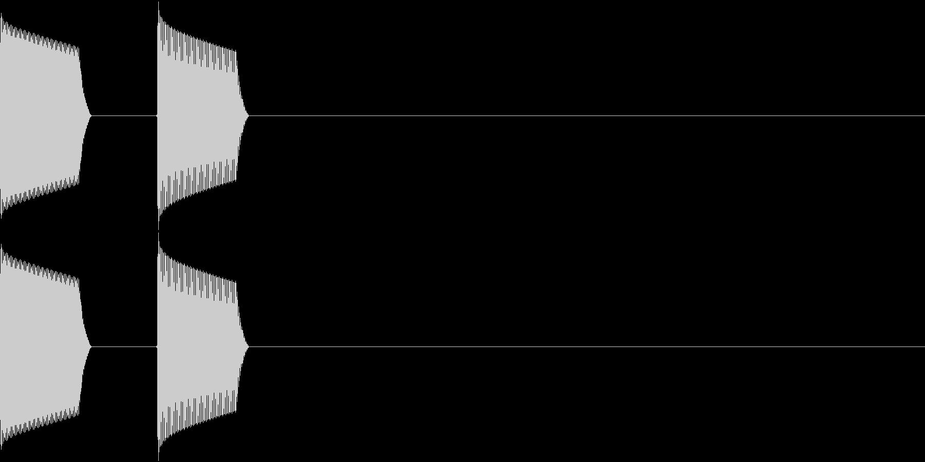 ATM 操作音 1の未再生の波形