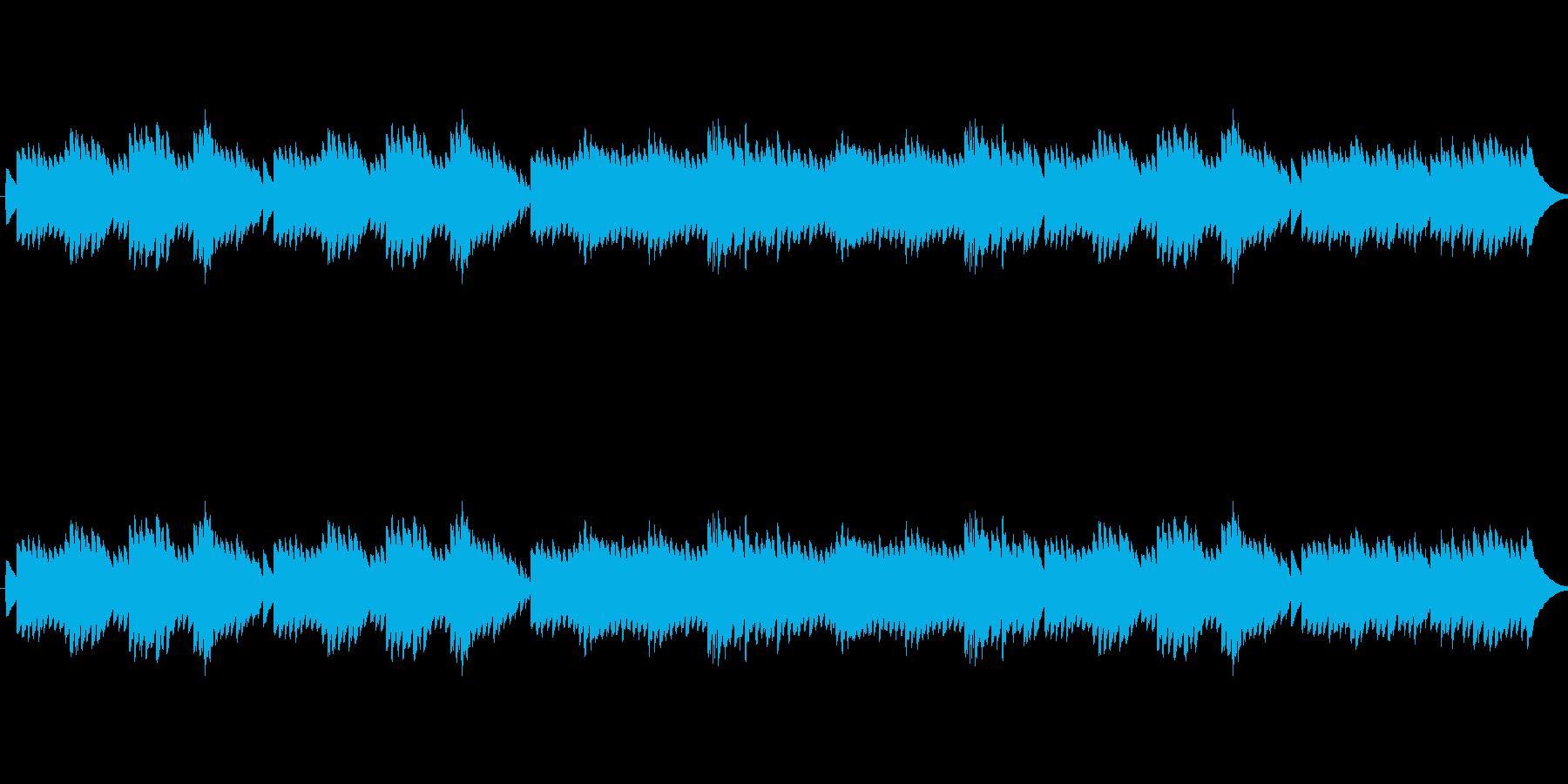 優しい優雅な雰囲気のオルゴールの再生済みの波形