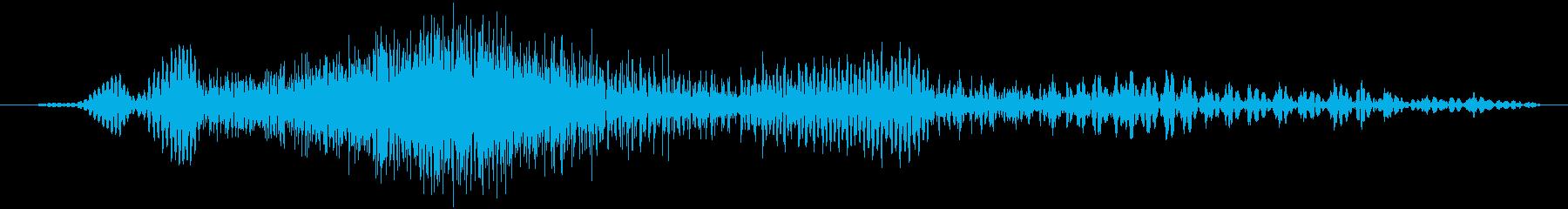 ジッパーを開閉するときの音の再生済みの波形