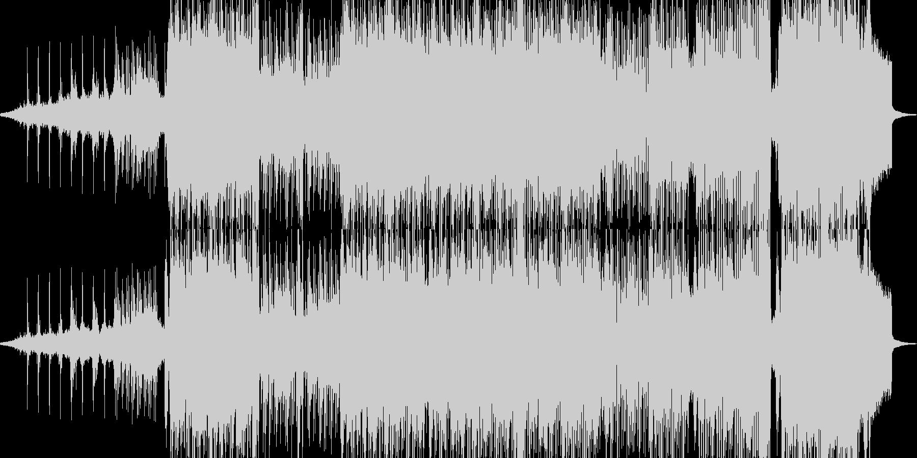 後戻り出来ない恐怖シーンのビッグビートの未再生の波形