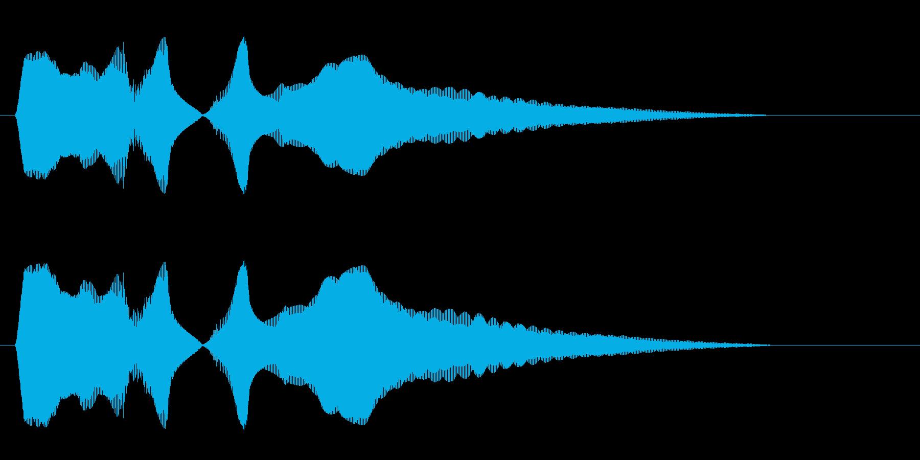 キュイーン(金属音系)の再生済みの波形