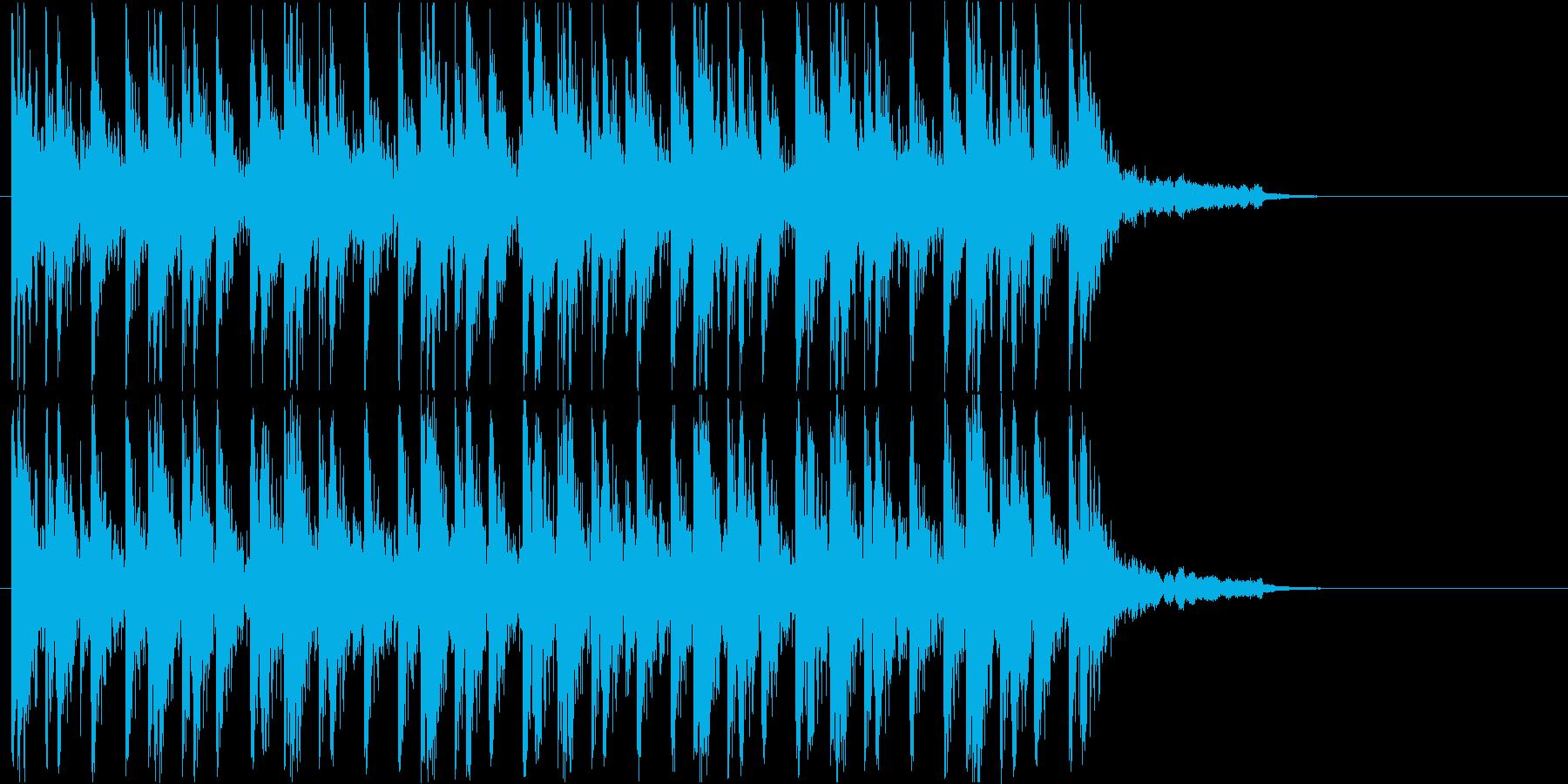 コミカルな和楽器のお囃子ジングルの再生済みの波形