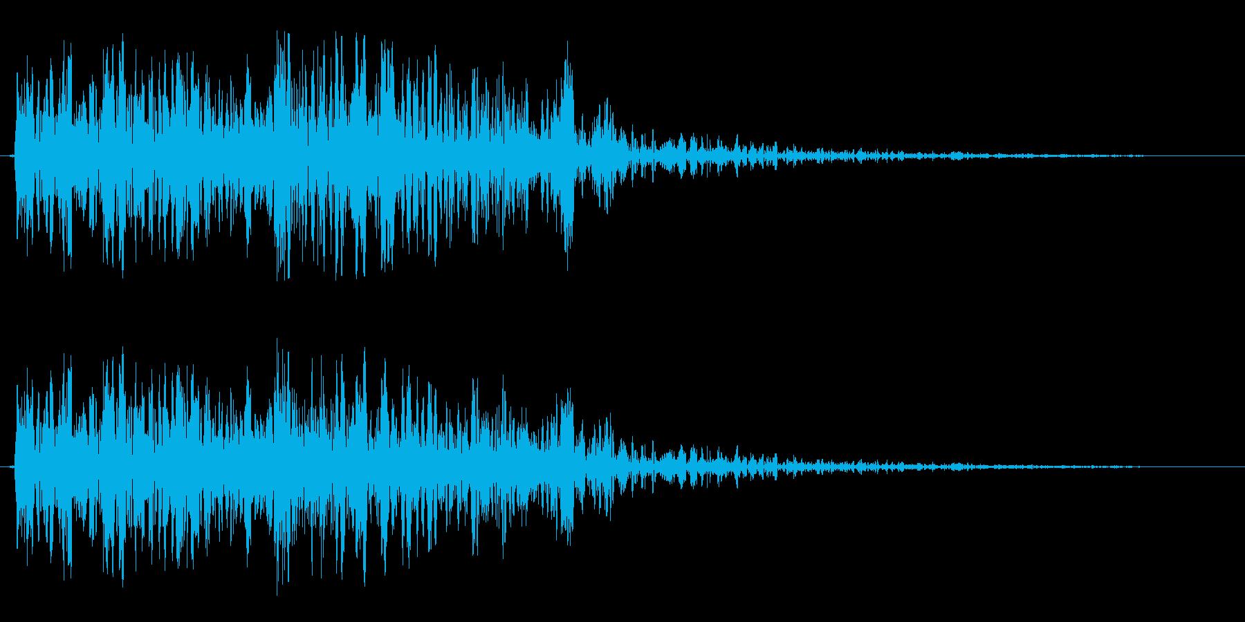 ジャジャン(問題を出す時)の再生済みの波形