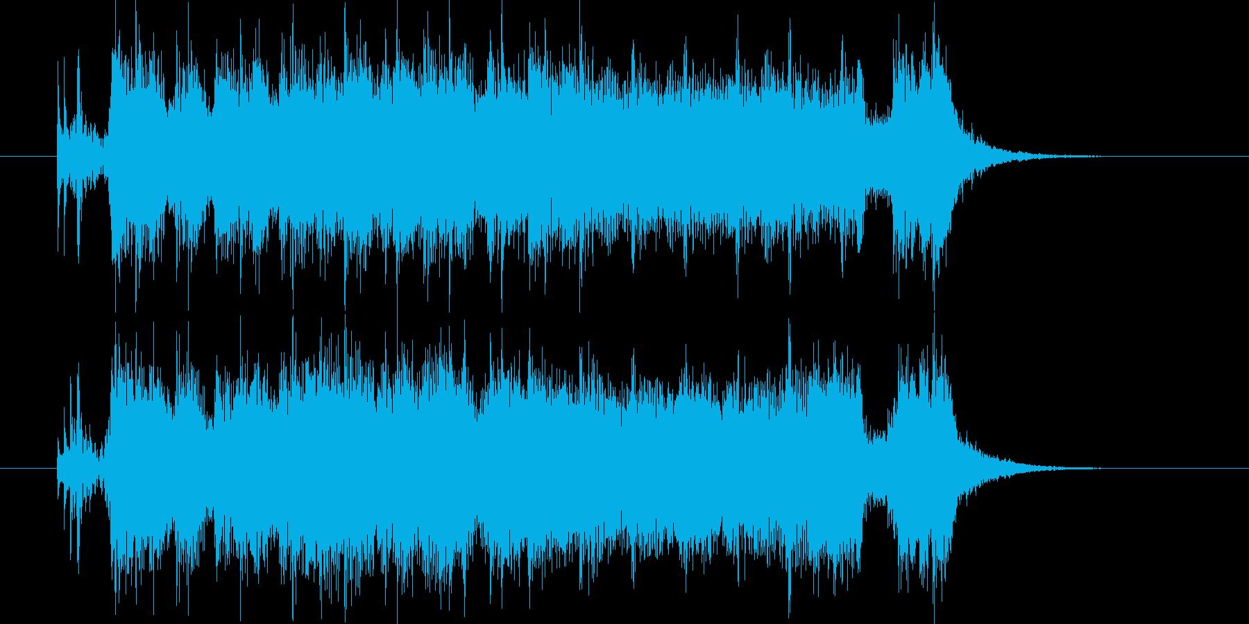 ロックテイストのアップテンポなポップスの再生済みの波形