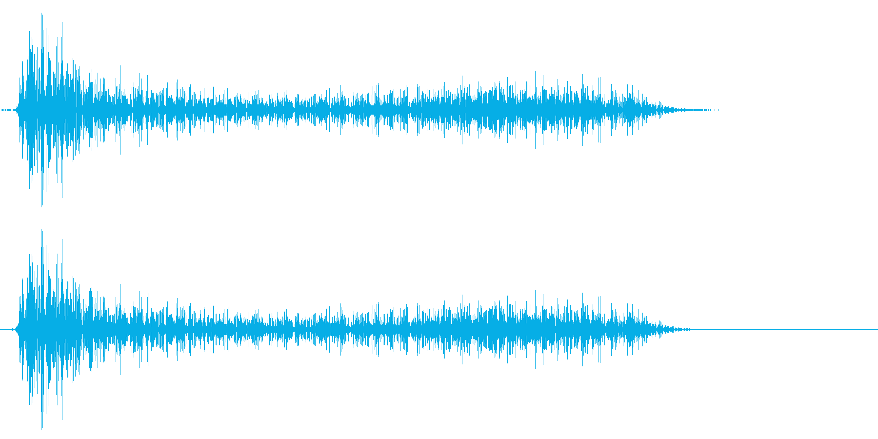 レトロゲームにありそうな衝撃(ザシュッ)の再生済みの波形