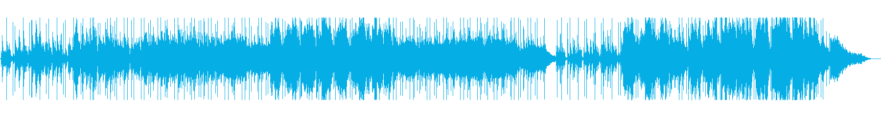 ピアノメインのしっとりとしたバラードの再生済みの波形
