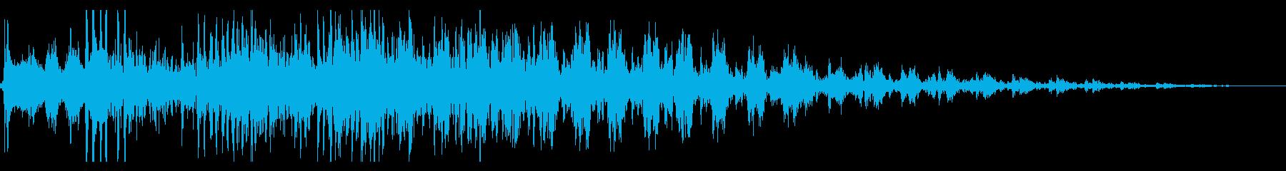 ハーレー系の大型バイク/エンジン効果音1の再生済みの波形