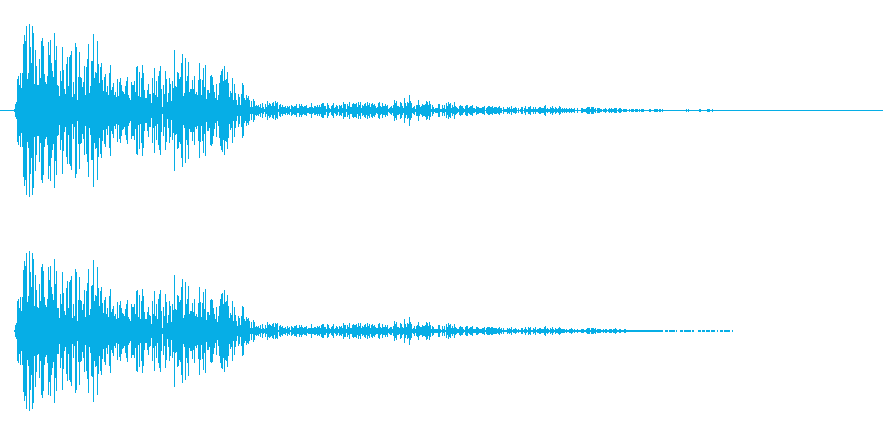パワワワ(決定音、登場音)の再生済みの波形