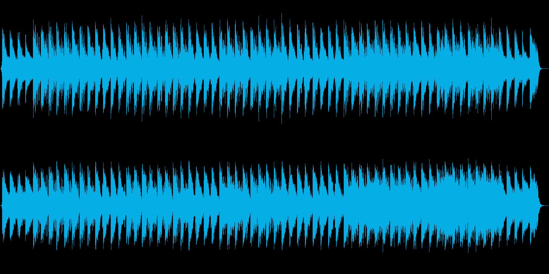 ゆったり涼しげなシンセサイザーサウンドの再生済みの波形