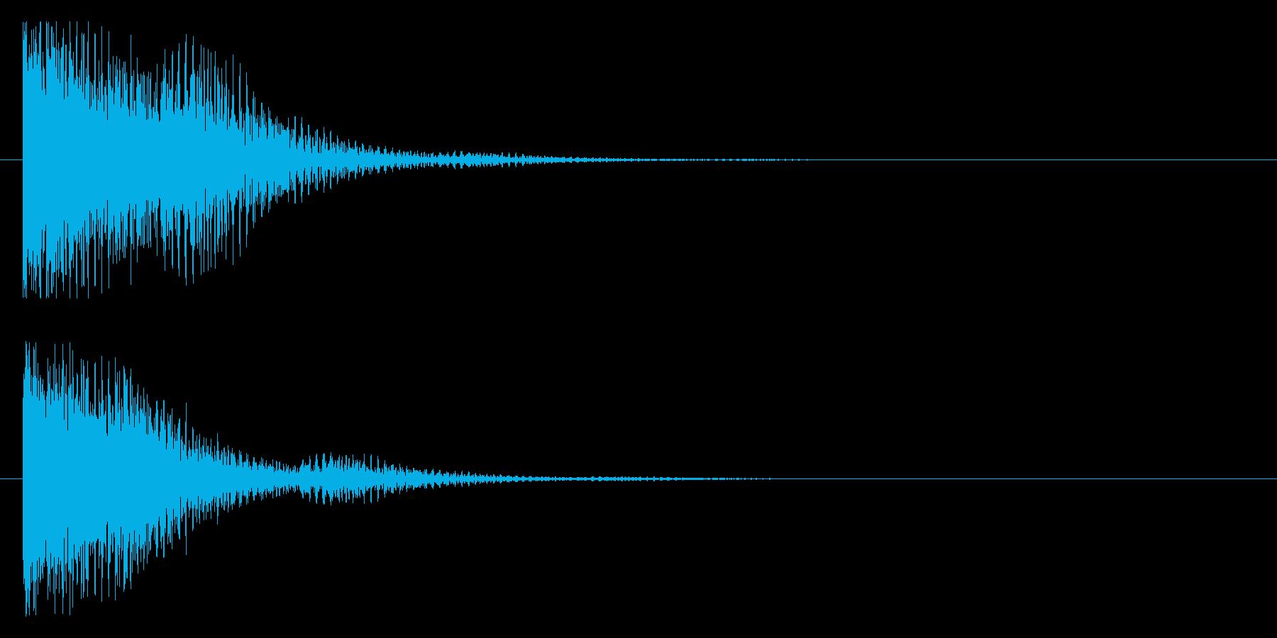 コワーン(響き有)の再生済みの波形