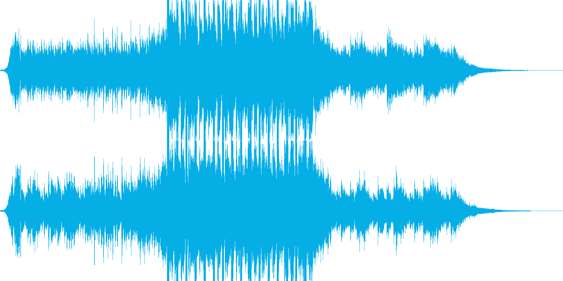 爽やかな30秒のイーブンキックの再生済みの波形