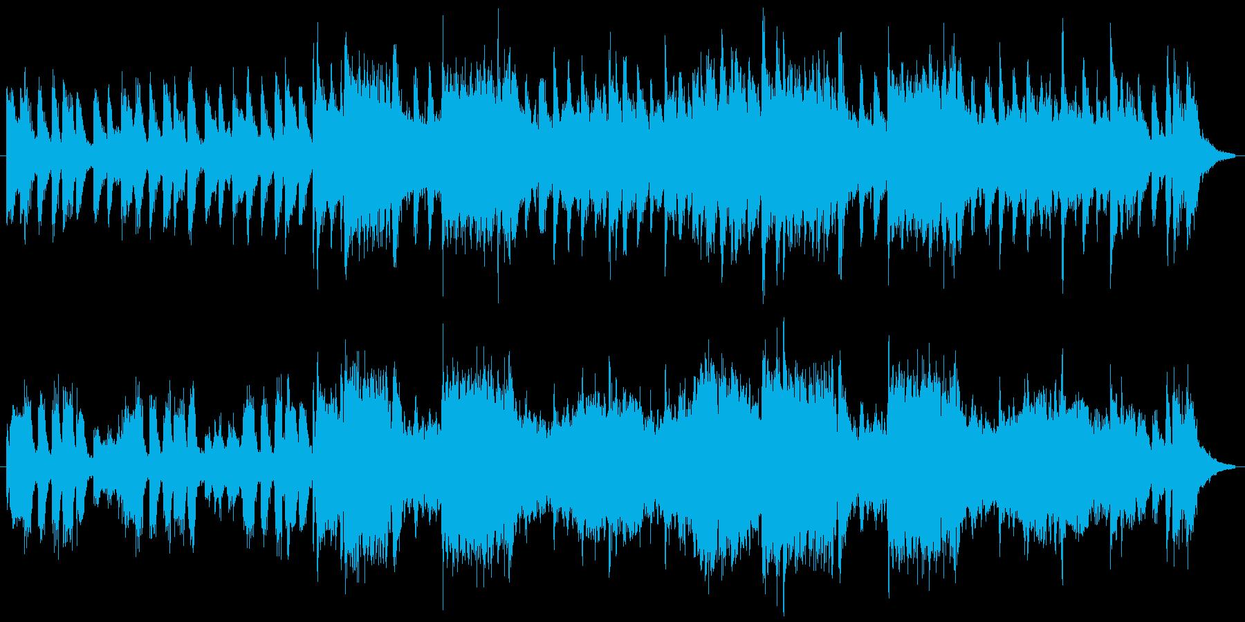 少しオシャレでレトロなジャズ風の再生済みの波形