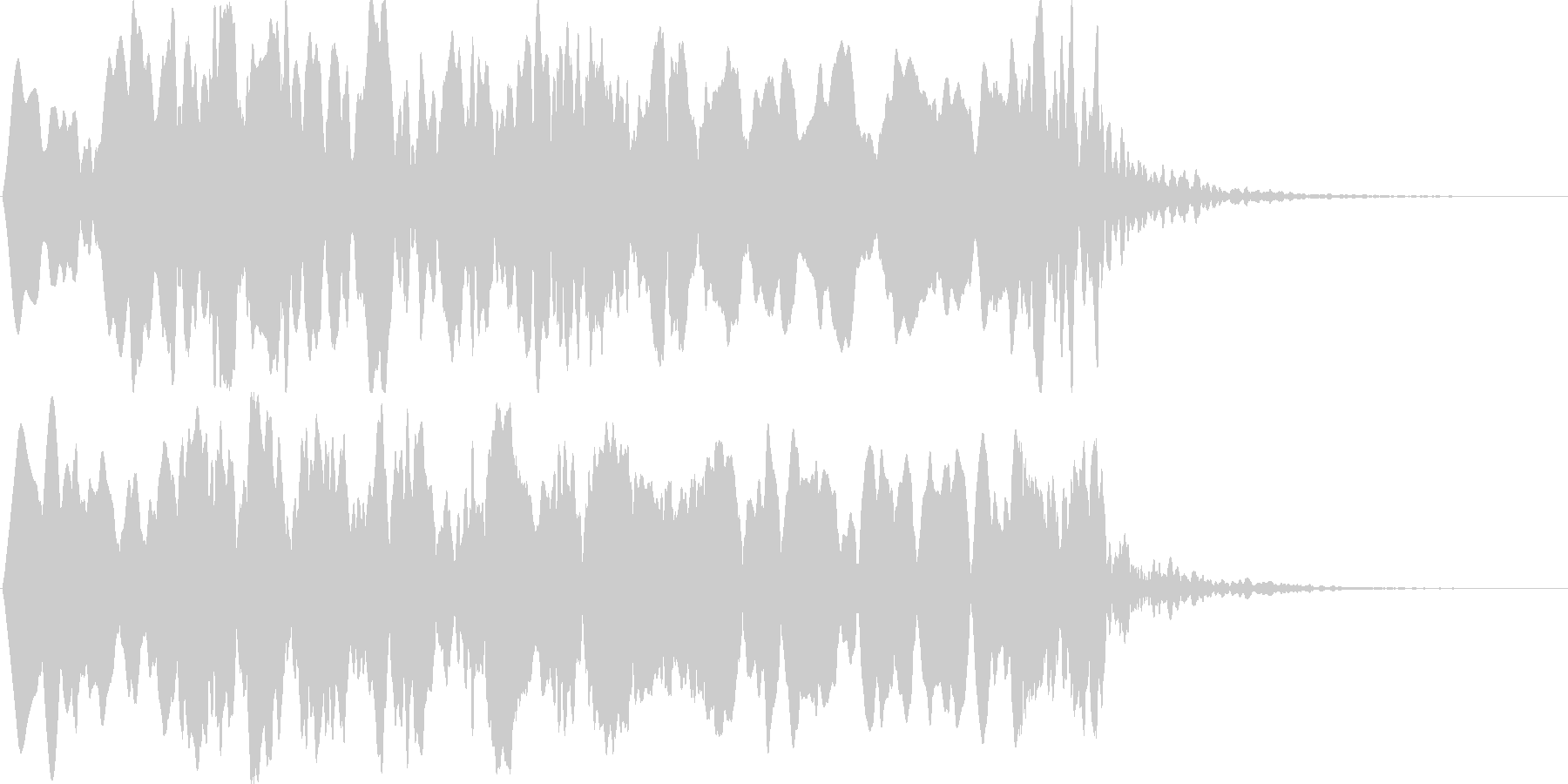 ヒュ~ゥゥ。オバケの登場音の未再生の波形