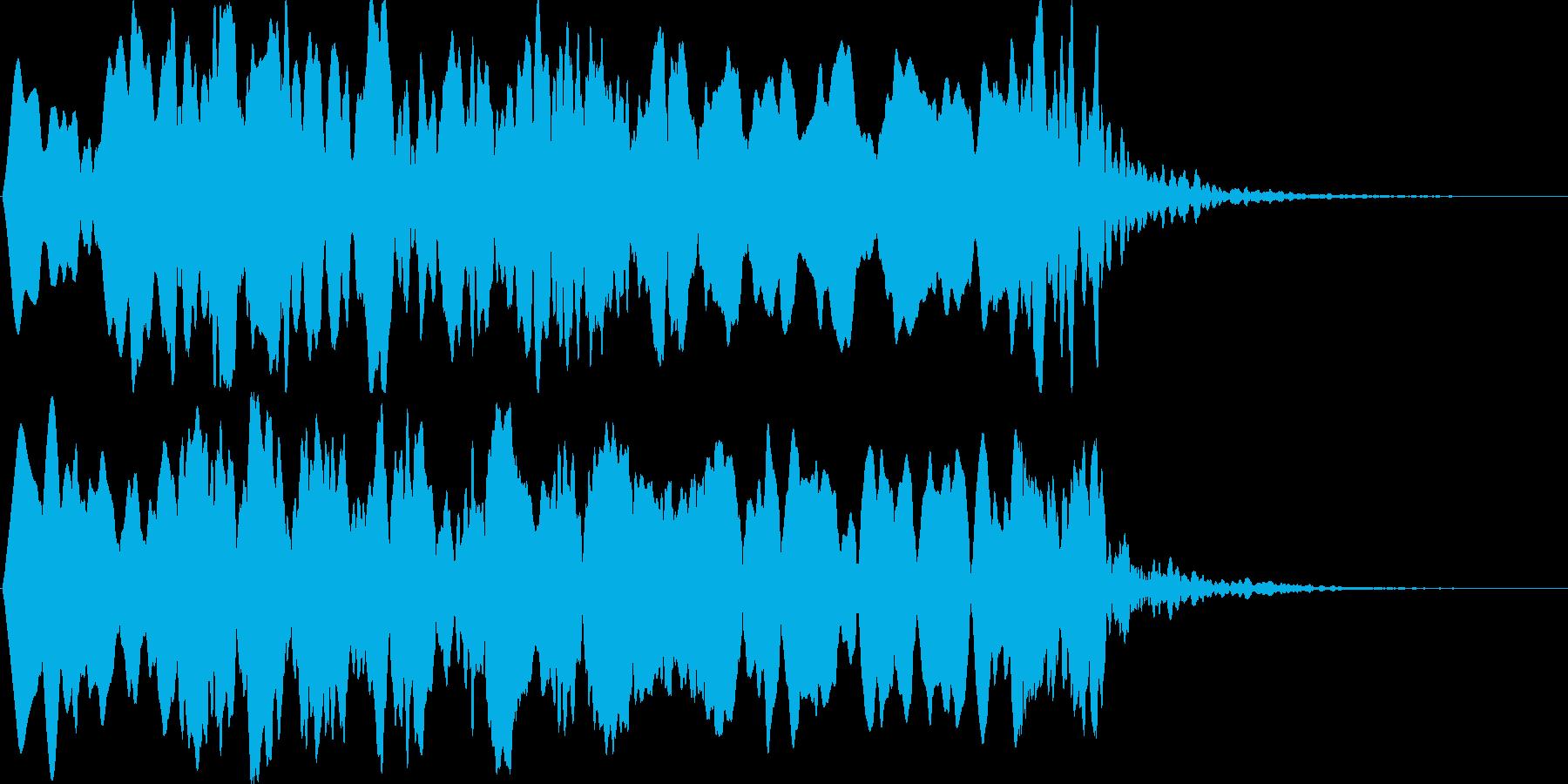 ヒュ~ゥゥ。オバケの登場音の再生済みの波形