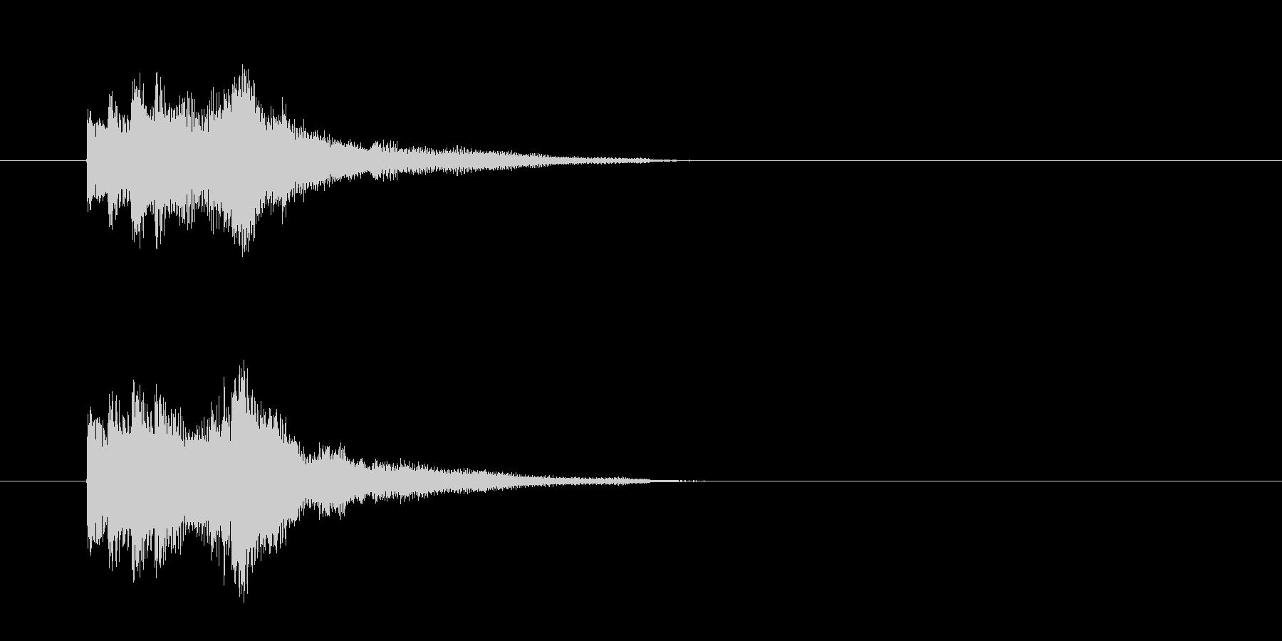 ジングル(ピアノ・タッチ)の未再生の波形