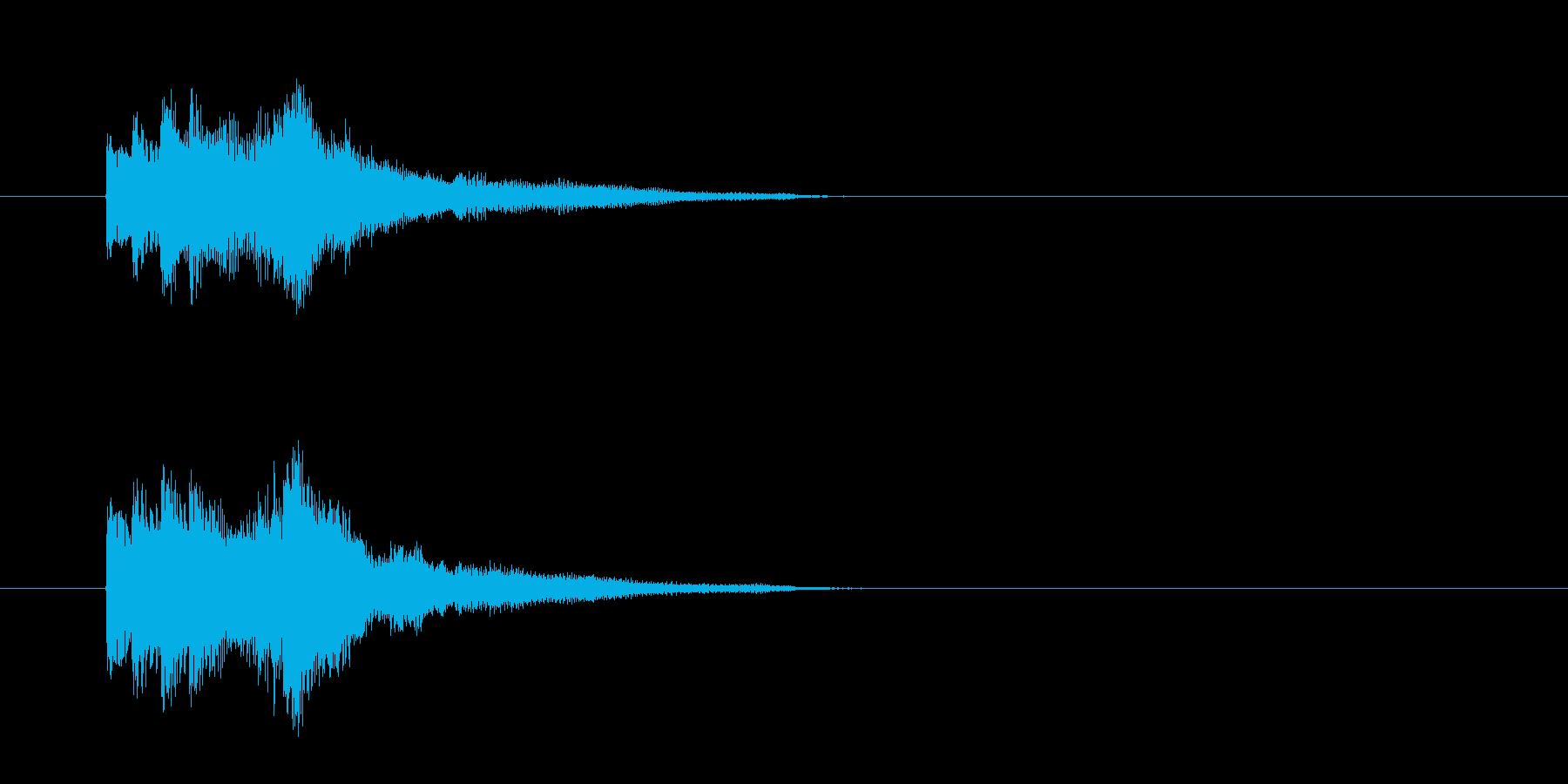 ジングル(ピアノ・タッチ)の再生済みの波形