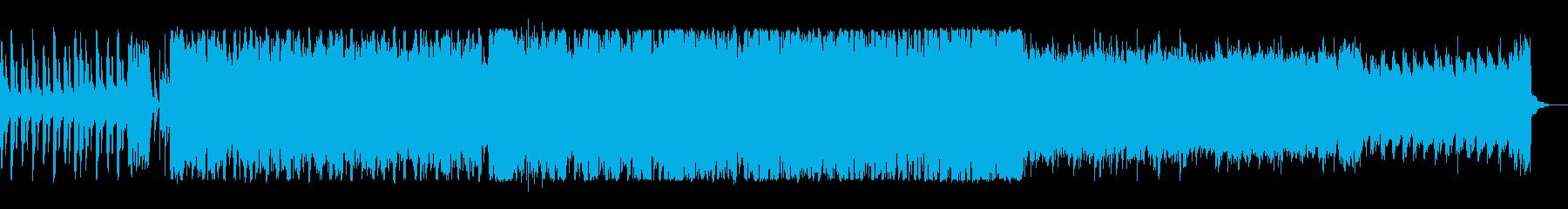 電子音が特徴的な軽快で楽しいポップスの再生済みの波形