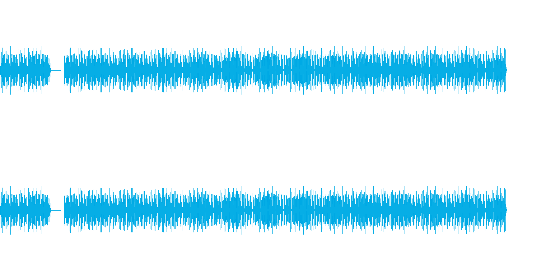 ブブー(不正解のブザー)の再生済みの波形