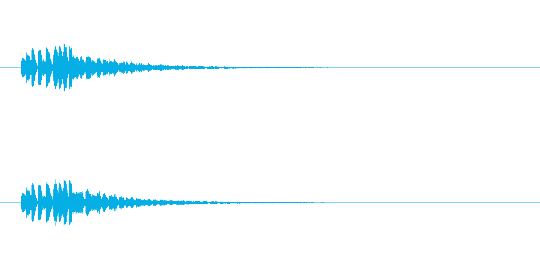 【ショートブリッジ17-4】の再生済みの波形