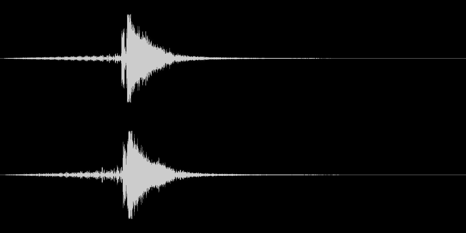 ホラー系アタック音127の未再生の波形