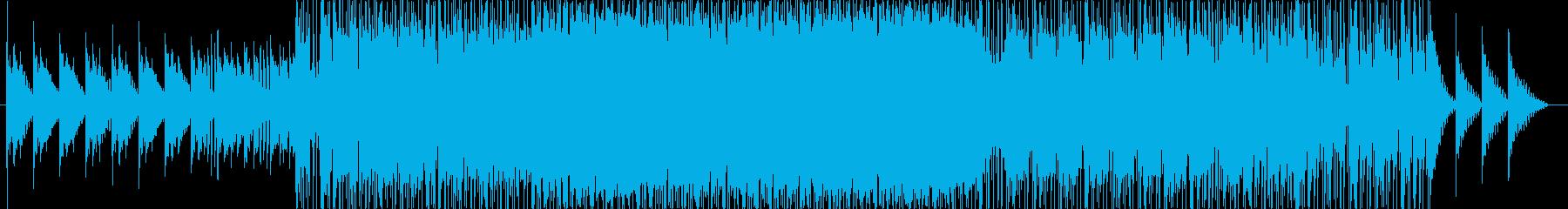 セツナ系の温かいポップスの再生済みの波形