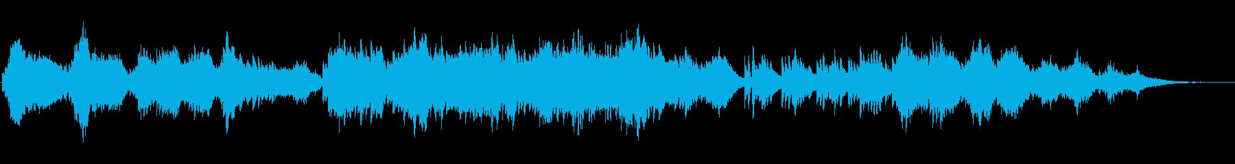 ピアノとストリングスの優しい曲08の再生済みの波形