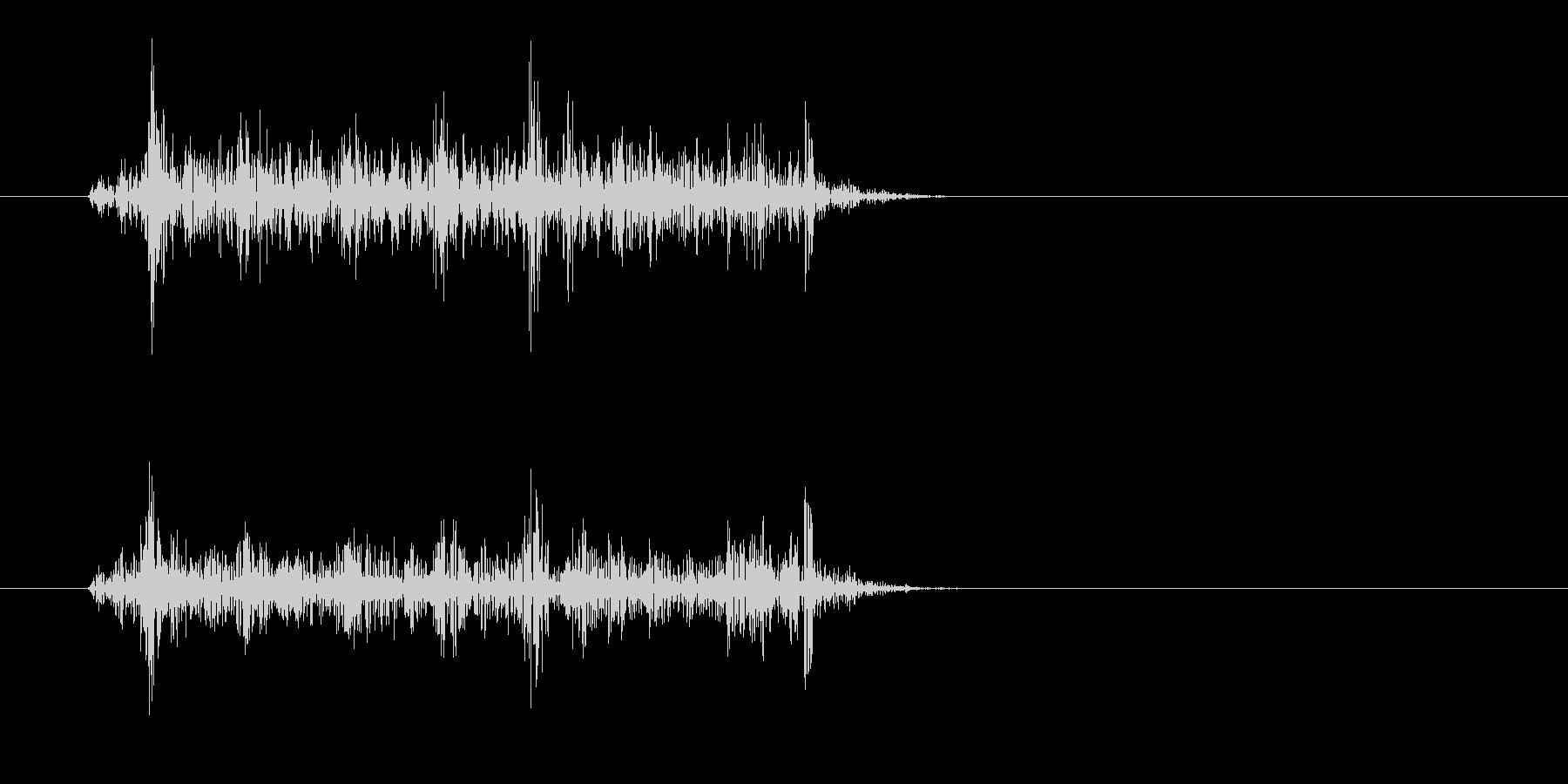 ザッ(摩擦の音)短めの未再生の波形