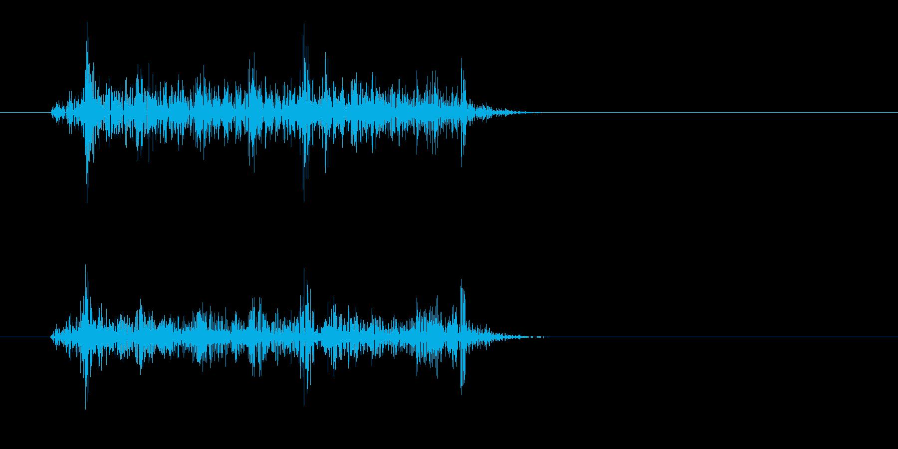 ザッ(摩擦の音)短めの再生済みの波形