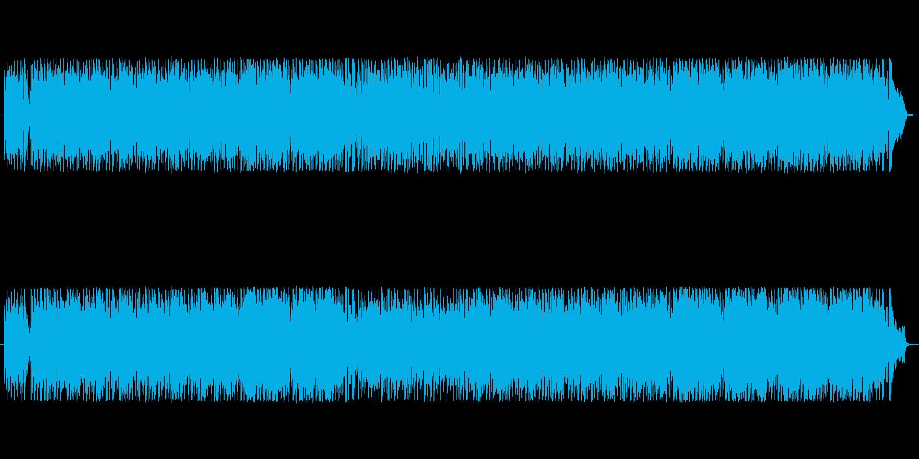 カントリー・ケルト風の軽快な曲の再生済みの波形